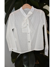 GIRLS WHITE PLUMETTI BLOUSE BABY YIRO