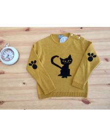 CHILDREN SWEATER CAT MON PETIT BOMBON