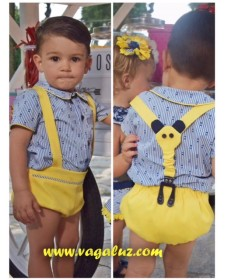 BOY SHIRT AND BLOOMERS LIMONCHELO
