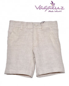 BOYS BEIGE LINEN TROUSERS JOSE VARON