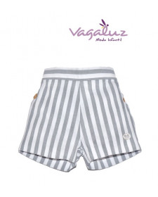 BABY BOYS GREY STRIPES SHORT JOSE VARON