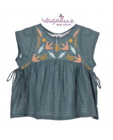 GIRL TEAL BLOUSE