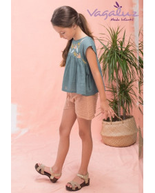 GIRL TERRACOTA SHORT