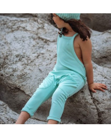 GIRL GREEN JUMPSUIT