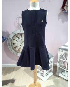 GIRL NAVY DRESS.