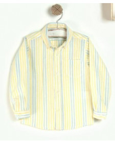 BOYS YELLOW AND BLUE STRIPES SHIRT JOSE VARON