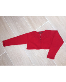 GIRL RED CARDIGAN LOAN BOR