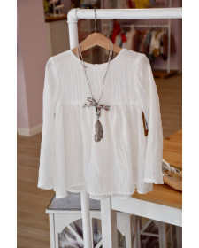 GIRL WHITE BLOUSE MIA Y LIA