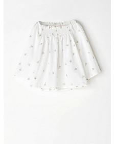 GIRL WHITE STARS BLOUSE