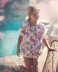 GIRLS FLOWERS COVER-UP TOP NORA NORITA
