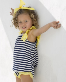 GIRL NAVY DRESS WITH BLOOMER