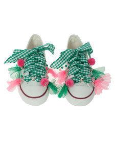 GIRLS GREEN SNEAKERS