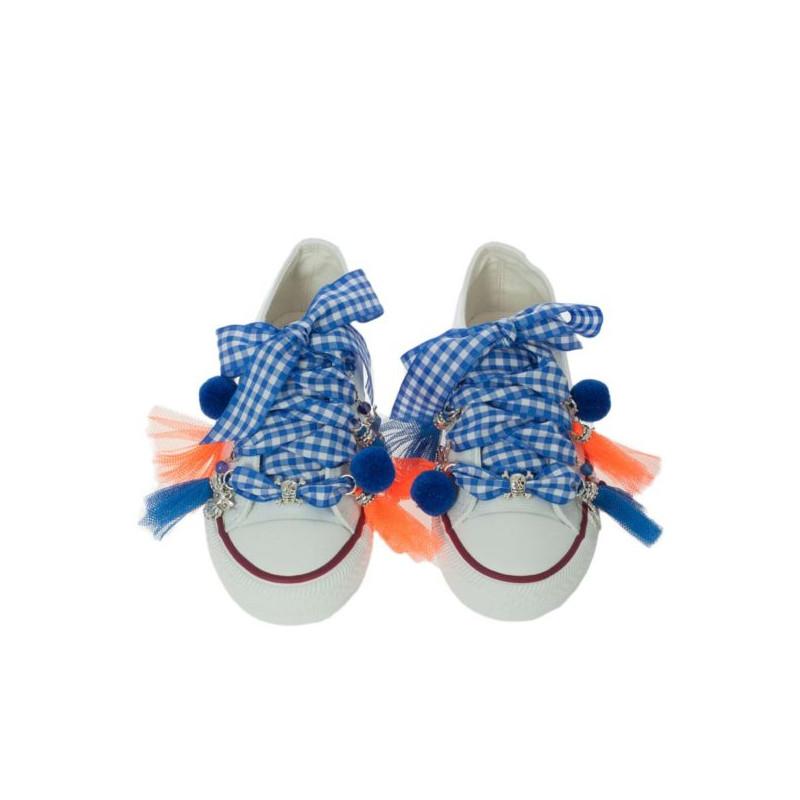 Niña Vichy Vagaluz Azul Quickas Zapatillas nOXwk80P