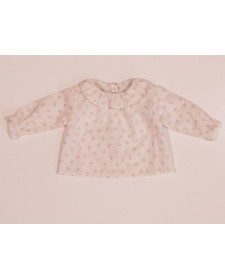 BABY GIRL PINK FLORAL SHIRT