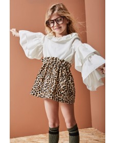 CONJUNTO DE NIÑA MONKIDS ANIMAL