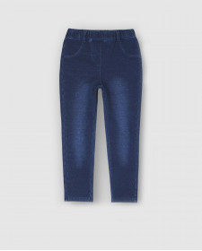 GIRL FLEECE DENIM TROUSERS BOBOLI
