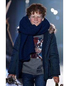 BOY TECHNICAL FABRIC PARKA NAVY BOBOLI