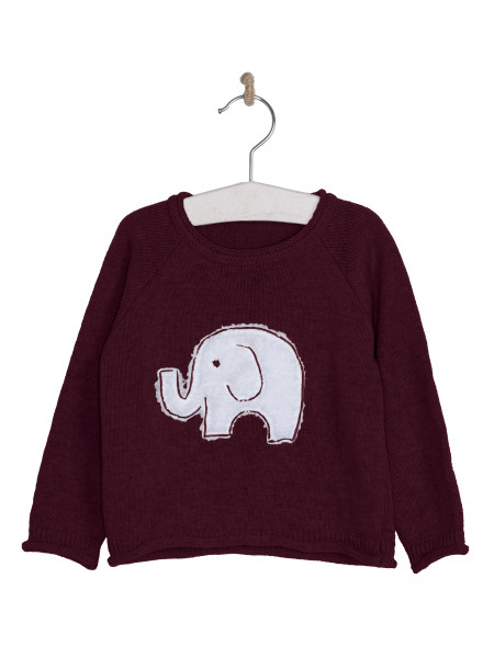 BOYS RED ELEPHANT SWEATER JOSE VARON