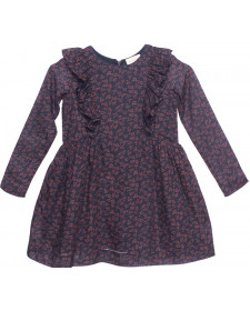 GIRL DARK FLOWERS DRESS PLUMETI RAIN