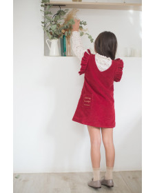 GIRL RED SKIRT PLUMETI RAIN