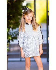 GIRL GREY DRESS KIDS CHOCOLATE