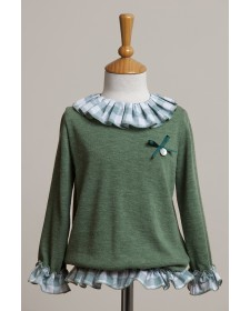 GIRLS GREEN SWEATER BABY YIRO