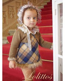 BABY GIRL DRESS AND BOLERO LOLITTOS