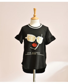 GIRLS APPLIQUES ON T-SHIRT GUESS