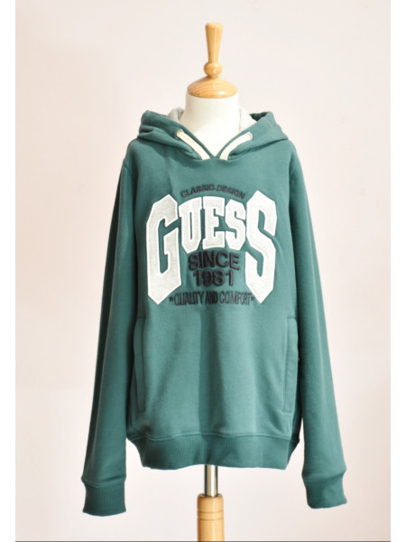 BOY GREEN SWEATSHIRT GUESS