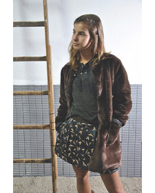 GIRLS BROWN COAT TARANTELA