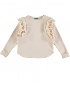 GIRLS IVORY SWEATSHIRT TARANTELA