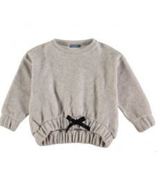 GIRLS GREY COTTON SWEATSHIRT TARANTELA
