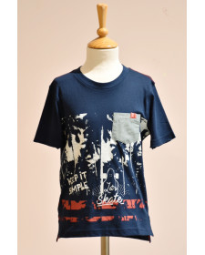 BOY NAVY T-SHIRT BOBOLI