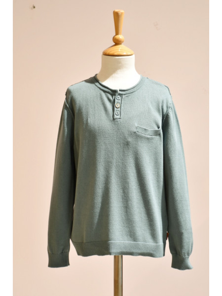 BOY GREEN SWEATER BOBOLI