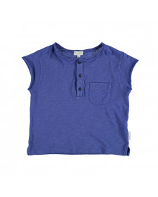 UNISEX BUTTONED TSHIRT BLUE