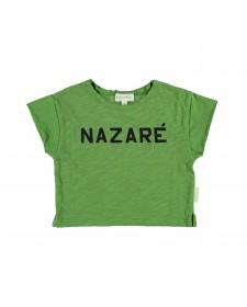 PRINTED T SHIRT GREEN NAZARE