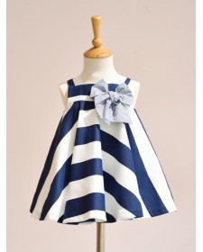 GIRLS NAVY BLUE STRIPES DRESS AND KNICKERS NOMA FERNANDEZ