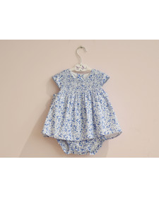 BABY GIRL BLUE DRESS WITH BLOOMER TUTTO PICCOLO