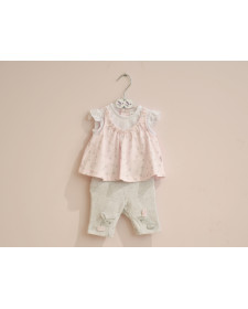 BABY GIRL PINK 2 PIECES SET TUTTO PICCOLO