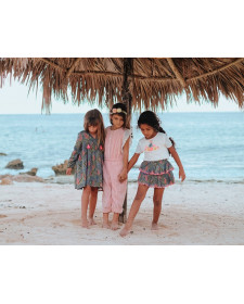 GIRLS SKIRT LOUISE MISHA LITCHI LAGOON LEAVES