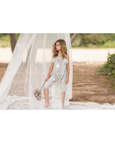 GIRLS SILVER JUMPSUIT BAMBOLINE