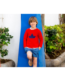 RED SWEATER KIDS CHOCOLAT