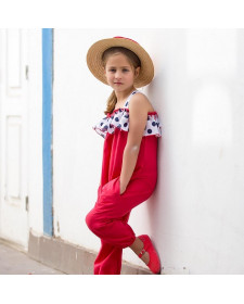 RED JUMPSUIT KIDS CHOCOLAT