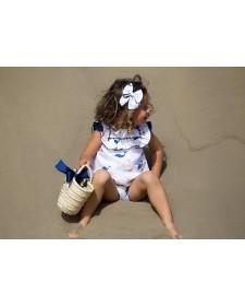 BABY GIRL WHALE DRESS KIDS CHOCOLAT