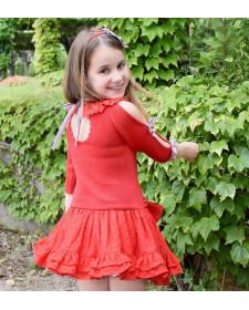 GIRL RED DRESS LOLITTOS NAVY