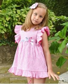 GIRLS PINK DRESS LOLITTOS FLEMISH