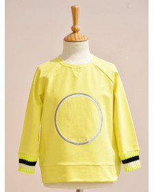 BOY YELLOW SWEATSHIRT LUNARES EN MAYO