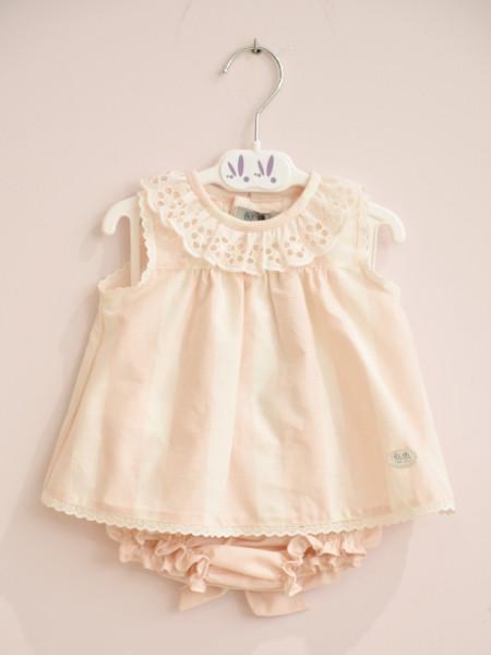 BABY GIRL DRESS WITH BLOOMER JOSE VARON