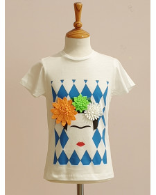 GIRL T-SHIRT FRIDA LUNARES EN MAYO