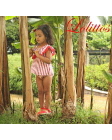 GIRL DRESS WITH BOTTOM ANCLAS LOLITTOS